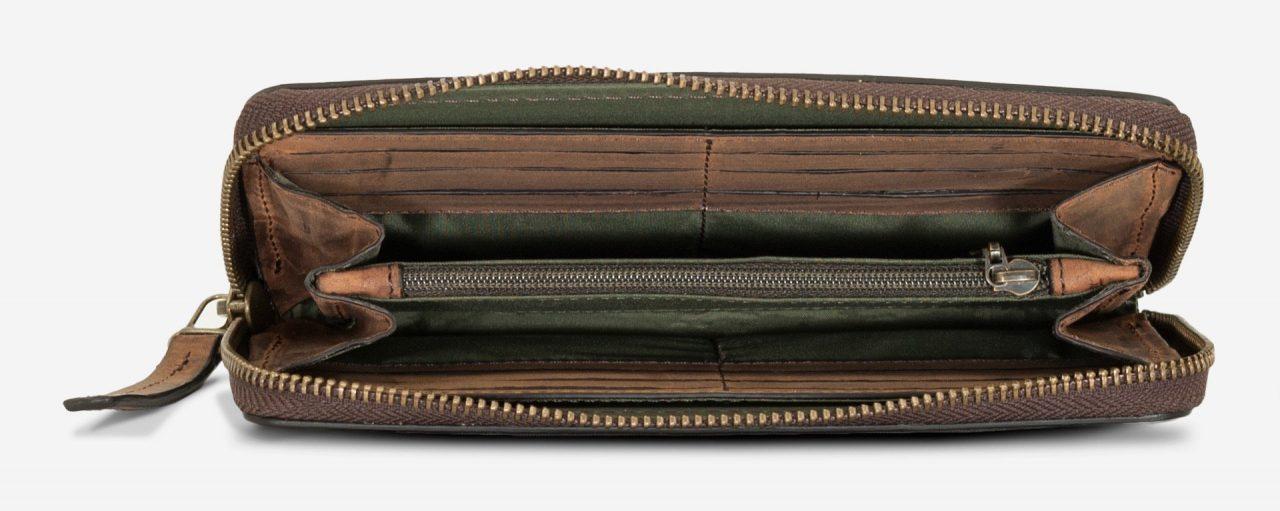 Grand portefeuille cuir zippé pour homme.