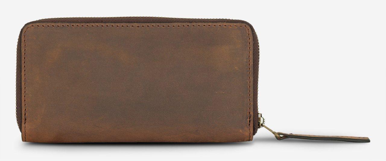 Grand portefeuille vintage en cuir.