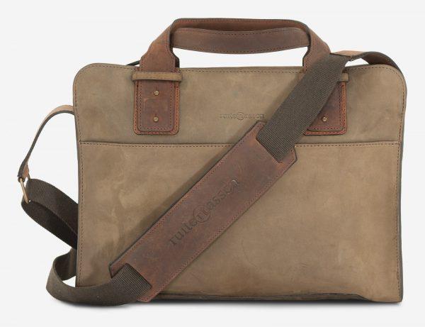 sac en cuir souple avec bandoulière.