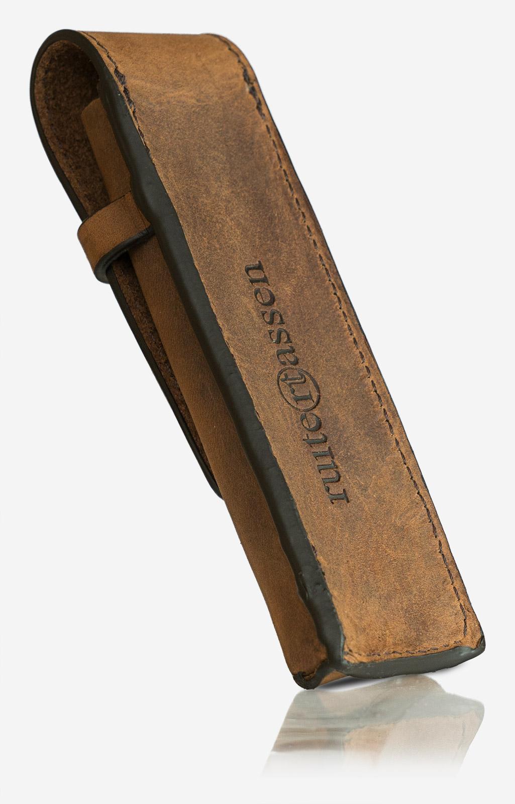 Étui à stylos en cuir marron Ruitertassen.