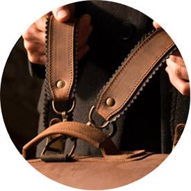 Bretelles cuir pour cartable Ruitertassen.