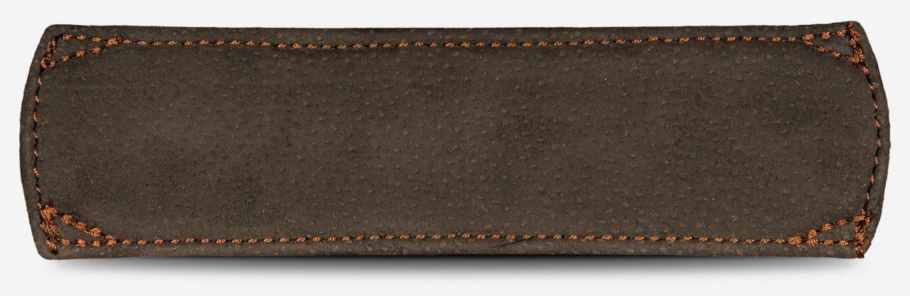 épaulette en cuir vintage de dos.