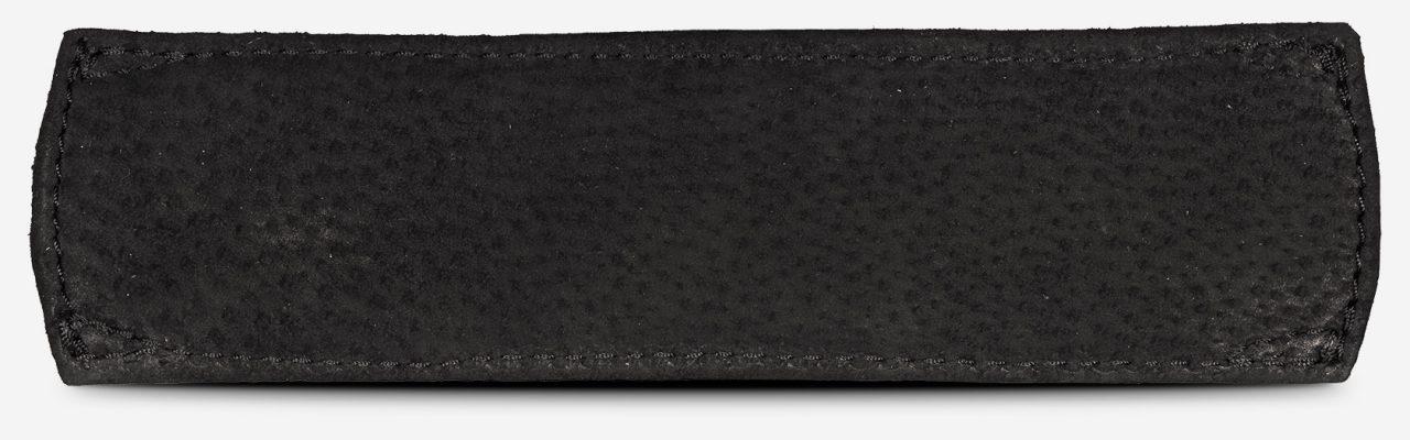 épaulette en cuir noir de dos.