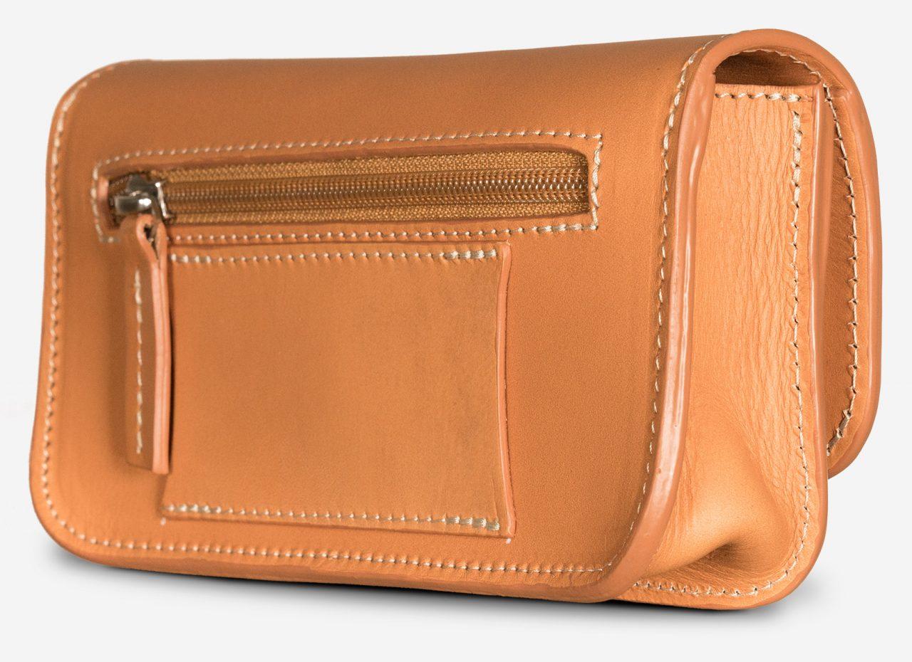 Sac porte-monnaie en cuir qui peut s'attacher à la ceinture.