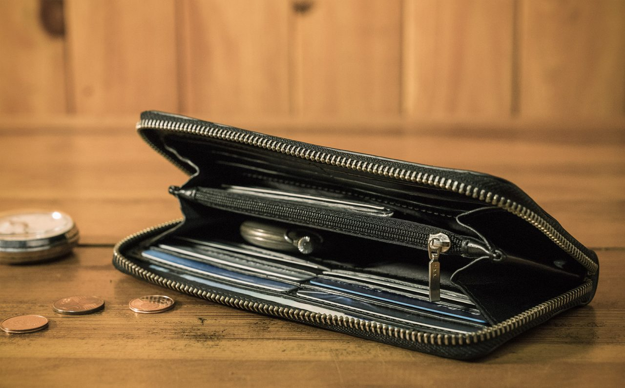 Meilleur portefeuille en cuir noir.