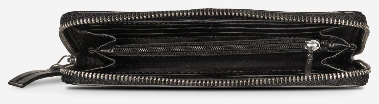 Meilleur portefeuille de voyage en cuir noir.
