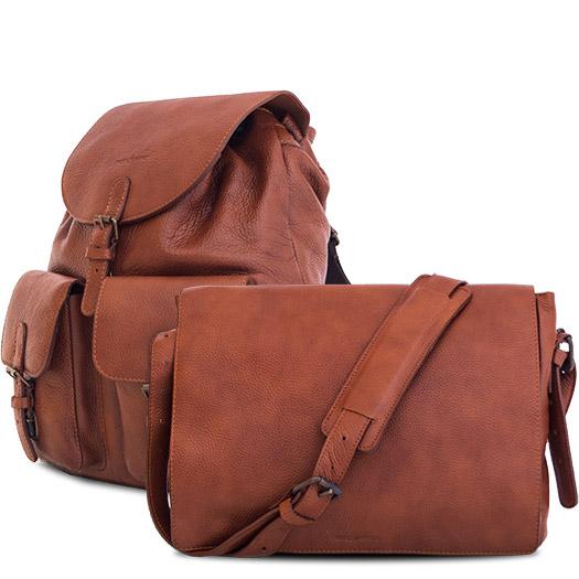 Beaux sacs professionnels en cuir souple.