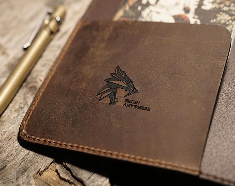 Agenda en cuir personnalisé avec logo.