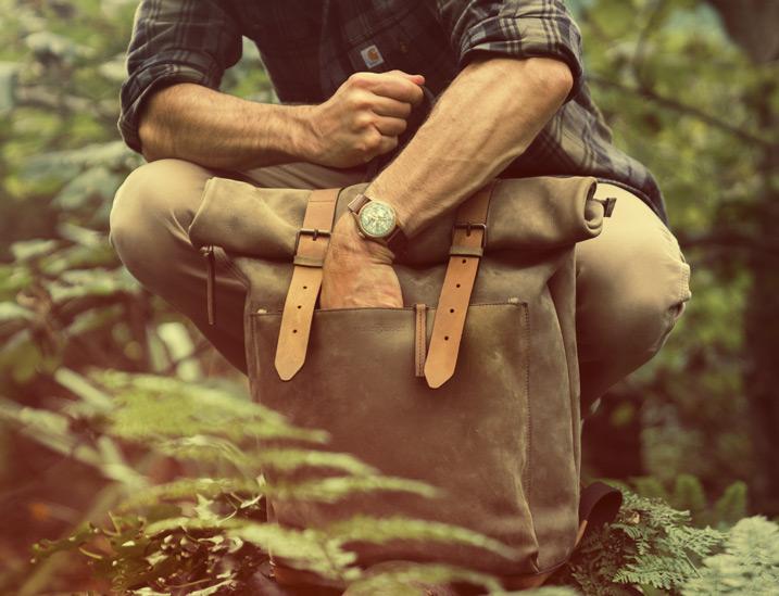 Beau sac à dos cuir en cuir souple pour homme.