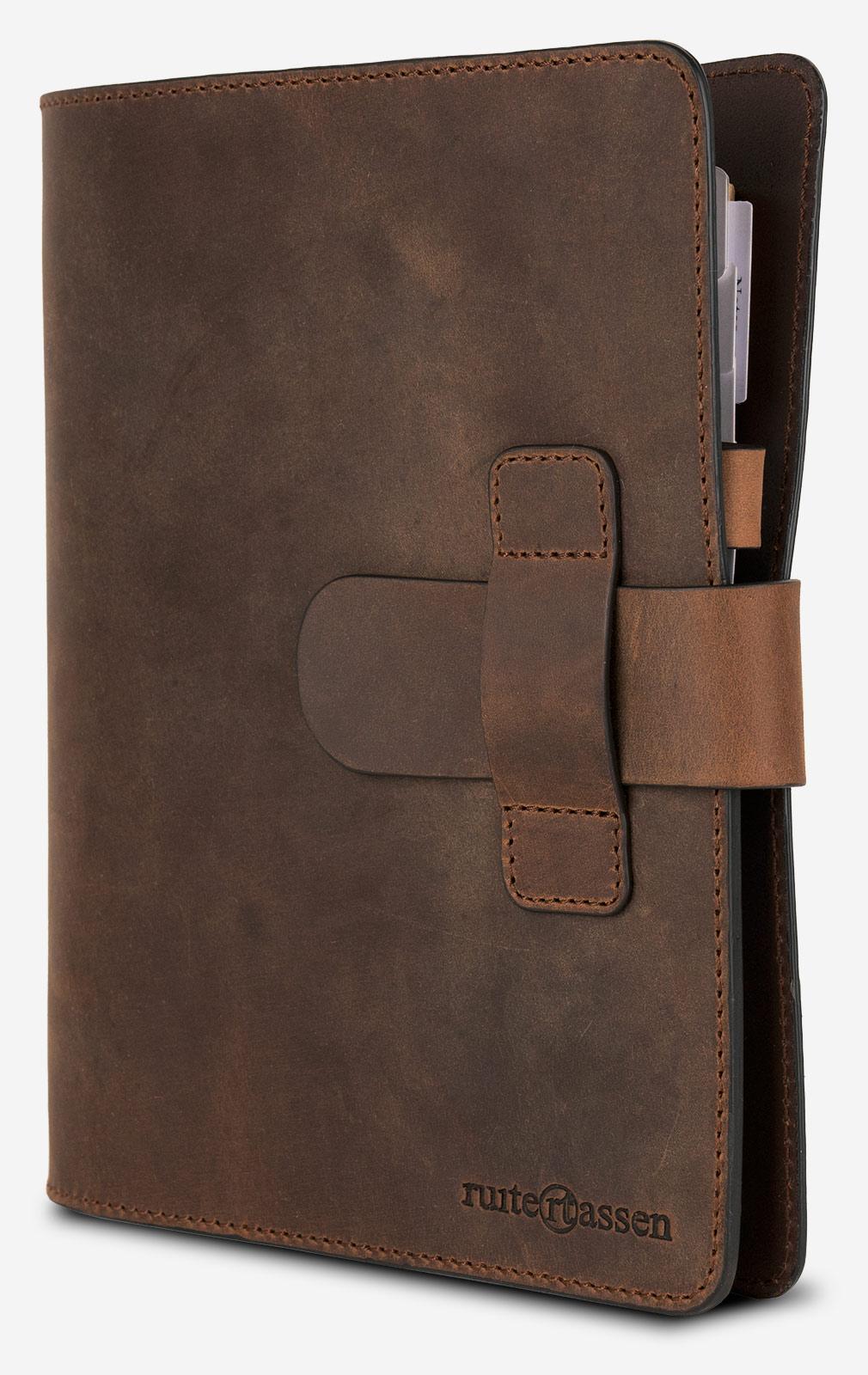 Bloc-note en cuir vintage à recharger.