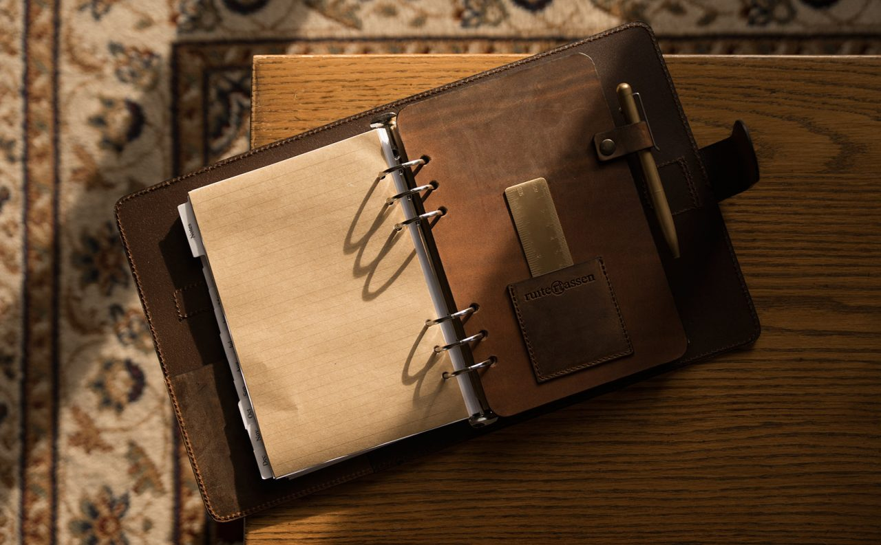 Agenda rechargeable A5 cuir vintage.