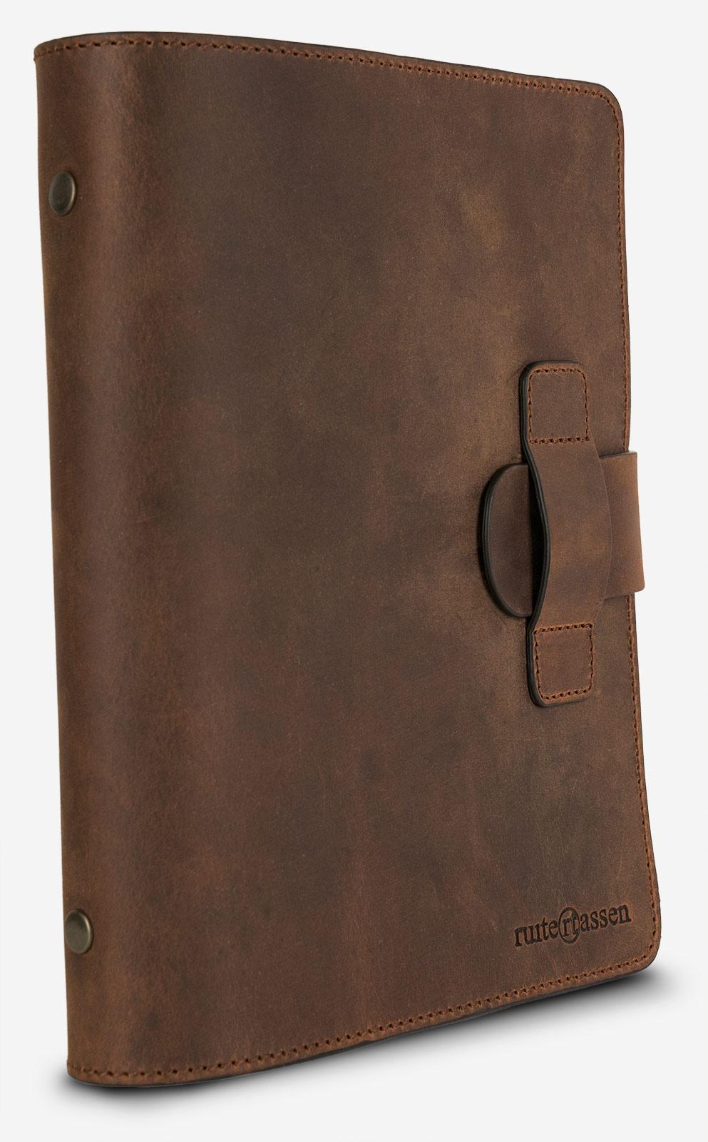 Bloc-note rechargeable vintage en cuir.