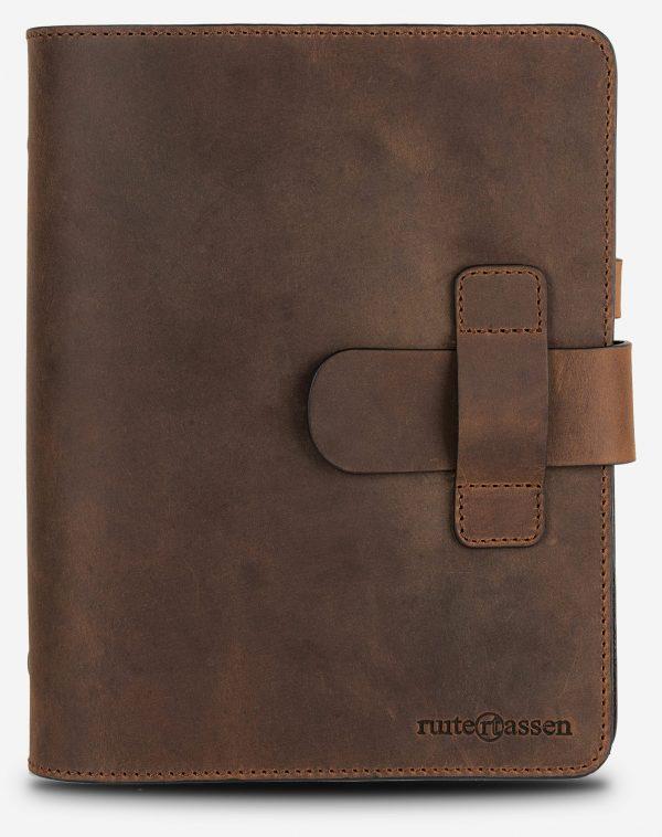 Carnet en cuir vintage rechargeable pour agenda ou notes.